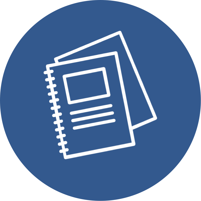 Icon Representing a Notebook of Information